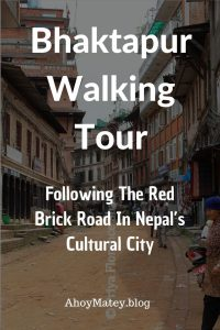 Bhaktapur, Nepal's cultural city, is a collection of exposed brick houses linked to each other by a network of red brick roads