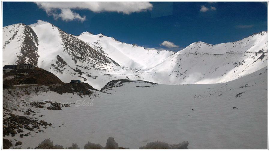At the snowline near Khardung-La