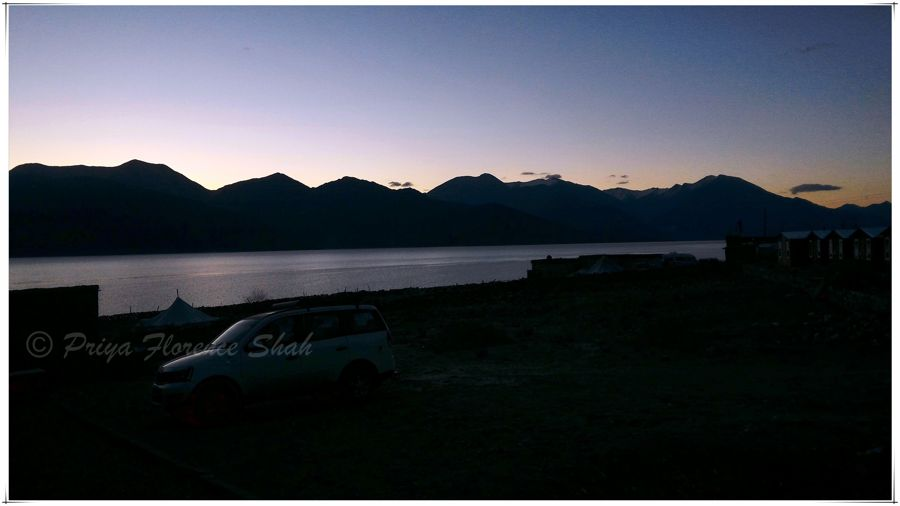 Pangong Lake at sunrise is surreal
