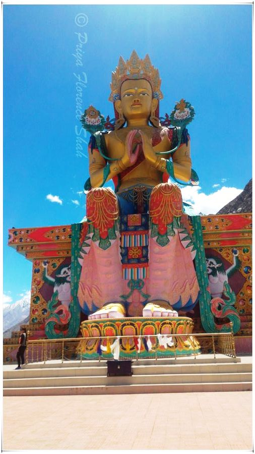 Statue of Maitreya Buddha at Diskit Gompa