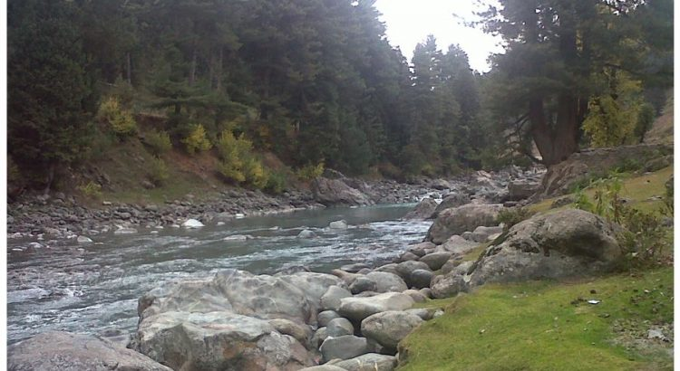 The beautiful Lidder River
