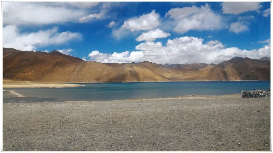 The famed Pangong lake, at last