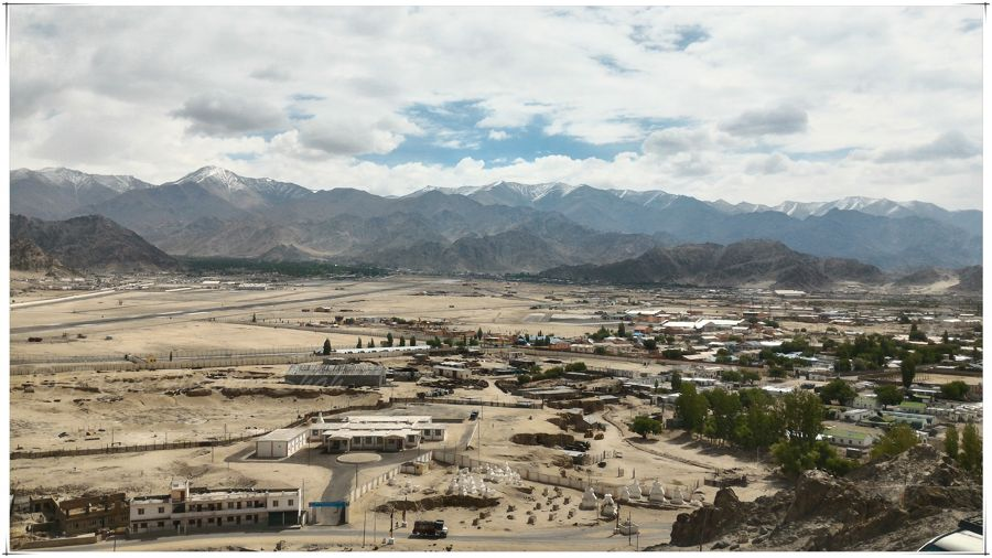 The view of Leh from Spituk Gompa