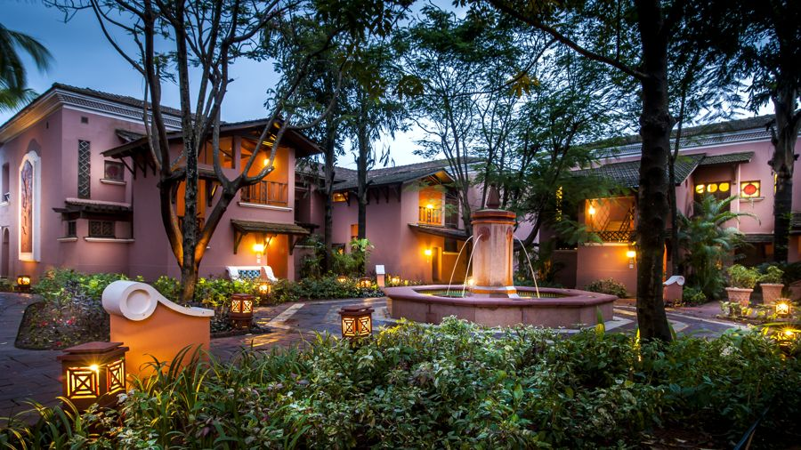The Park Hyatt Goa Resort and Spa resort has the atmosphere of a small Indo-Portuguese village