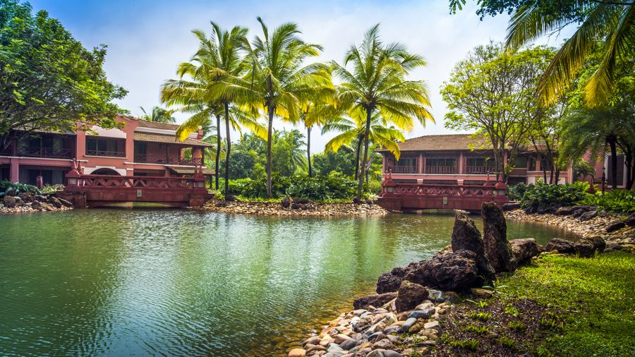 The lagoons at Park Hyatt Goa Resort and Spa are waterproofed to save water
