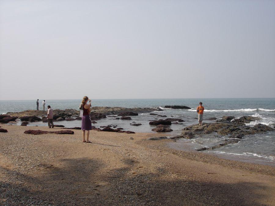 The rocks at Anjuna beach