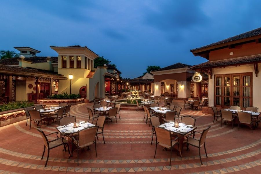 Village square at the Park Hyatt Goa Resort and Spa