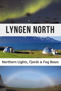 Lyngen North is one of the best places to stay in Norway to see the Northern Lights