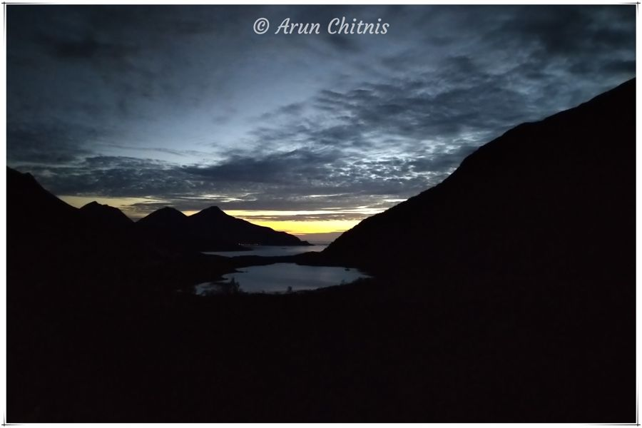 Sunset at Ersfjordbotn