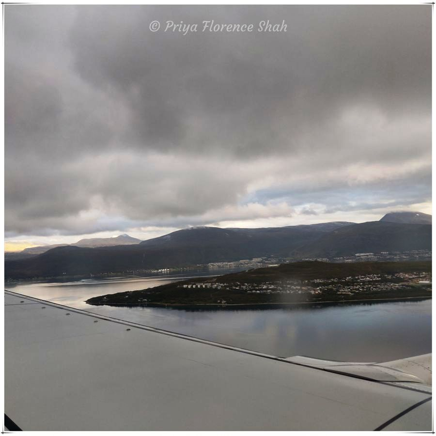 Our first view of Tromsø from the air